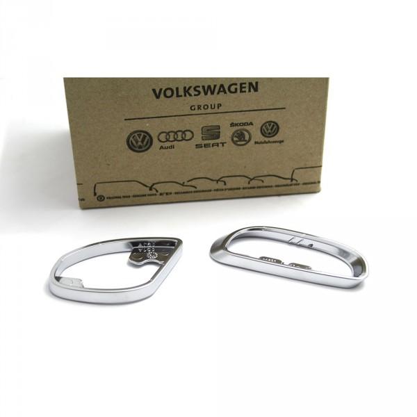 Original VW Passat 3C B7 Satz Zierringe Zuziehgriff links 2-Tlg. Aluminium