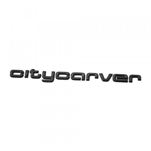 Original Audi CITYCARVER Schriftzug hinten schwarz Tuning Exclusive Black Edition Emblem
