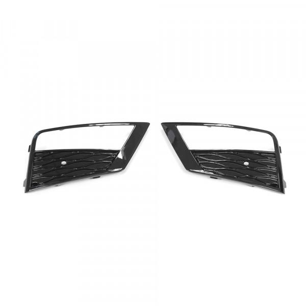 Original Seat Ateca Nebelscheinwerfer Gitter Set Abdeckung schwarz glänzend
