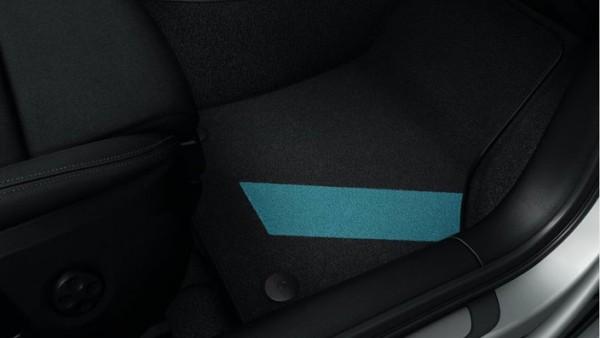 Premium Textil Fußmatten Original Audi A3 8V Dekor Matten Nebelblau 3-Türer