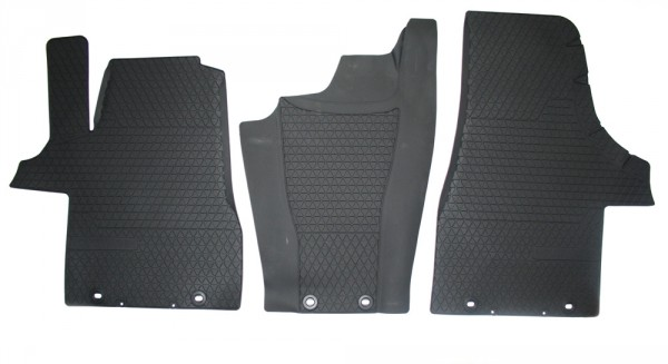 Gummi Fußmatten-Set vorn Original VW T5 Transporter 3er-Satz links+mitte+rechts
