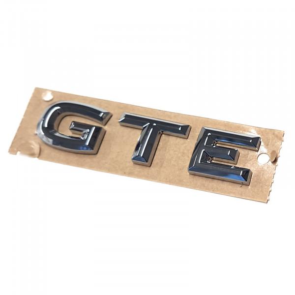 Original VW Schriftzug GTE Emblem Logo Aufkleber chrom glänzend