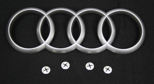 Audi Motorabdeckung Original Schriftzug Emblem Matt inkl. Befestigung