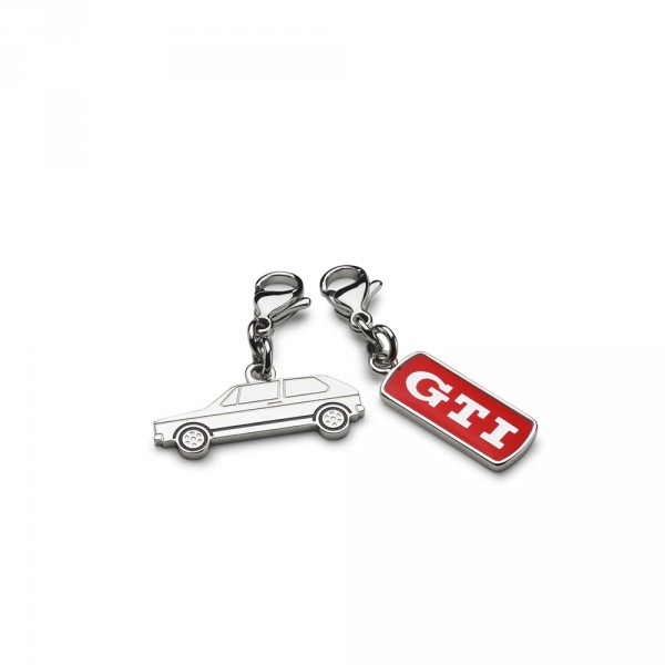 Original VW GTI Schmuckanhänger 2er Set Golf 1 GTI Schriftzug Accessoires