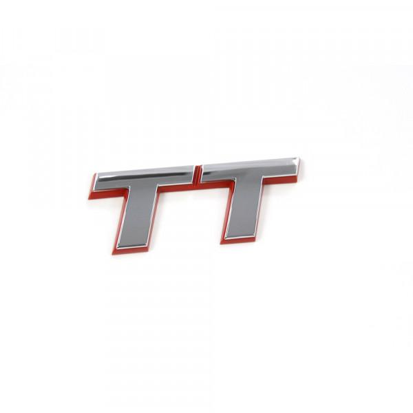 Original Audi TT Schriftzug hinten Emblem Heckklappe Logo chrom rot