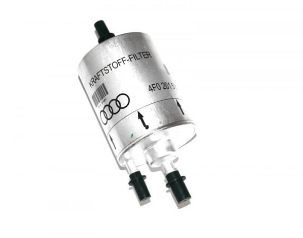 Kraftstofffilter mit Druckregler Original Audi A4 A6 Filter 3-fach 4 bar Benziner 4F0201511D