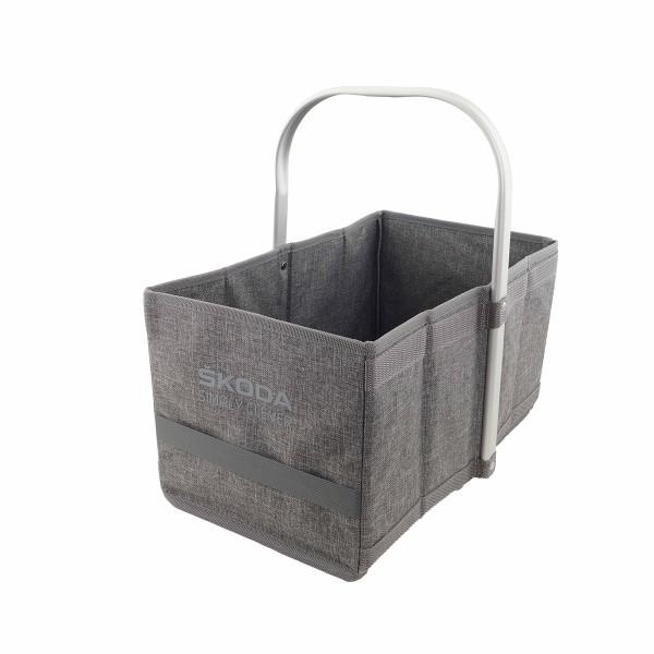 Original Skoda Einkaufskorb Faltkiste Transport Box Accessoires Lifestyle Tasche grau