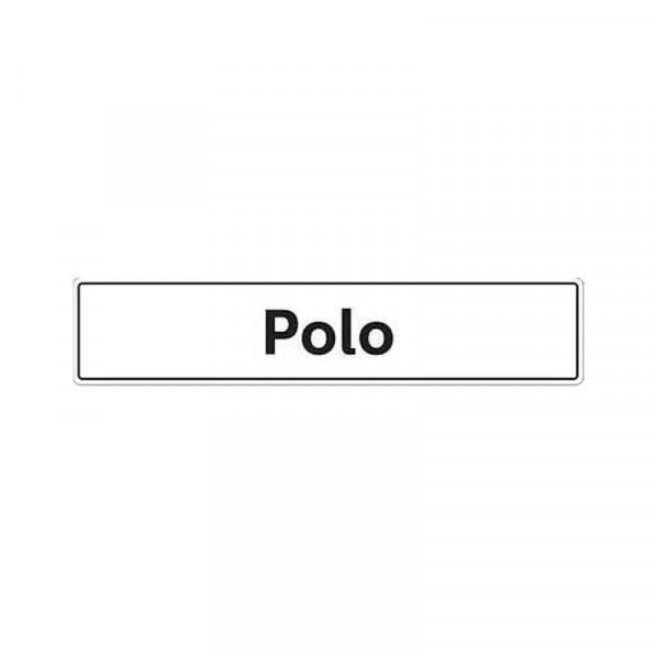 Original VW Kennzeichenschild Polo Nummernschild Kennzeichen Typenschild 6R0071801C