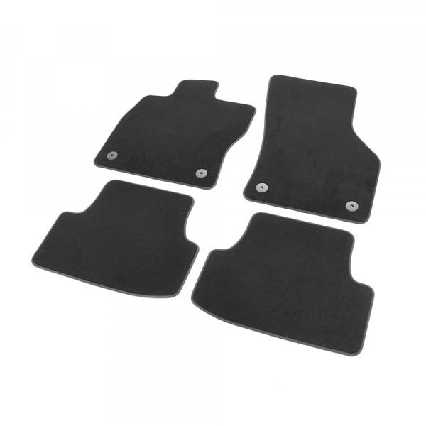Original Seat Leon (5F) Textil Fußmatten Satz v+h Velours Matten schwarz