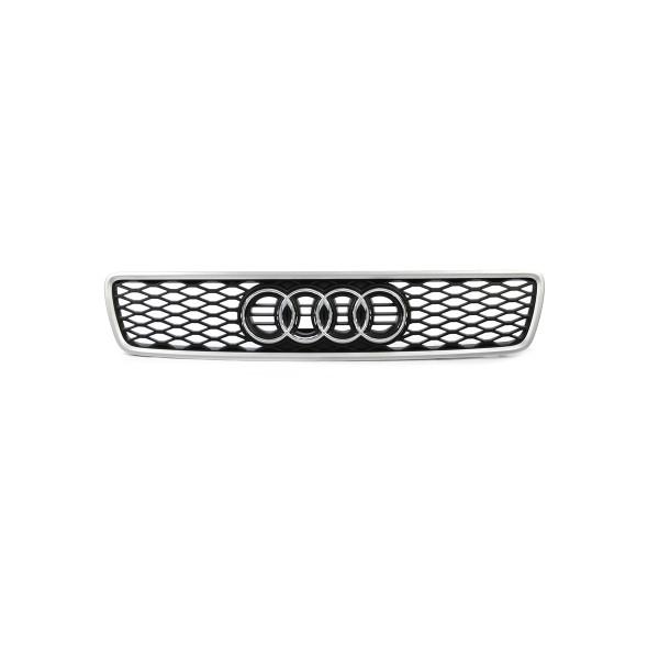 Original Audi RS4 (8D) Kühlergrill Alu matt glänzend Grill Tuning Frontgrill