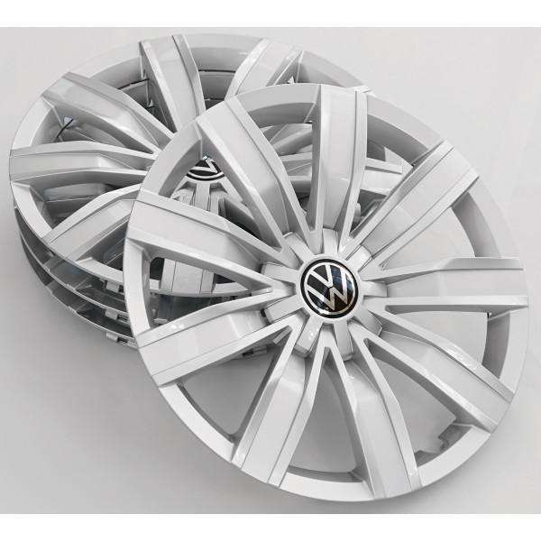 Original VW Tiguan Radkappen 17 Zoll Radzierblenden Radzierkappen silber 5NA071457BUWP