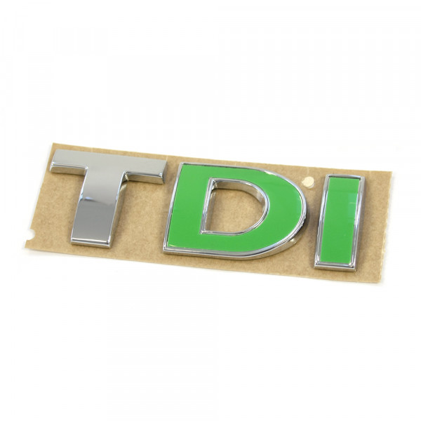 Original VW TDI Schriftzug hinten Heckklappe Emblem Logo chrom grün