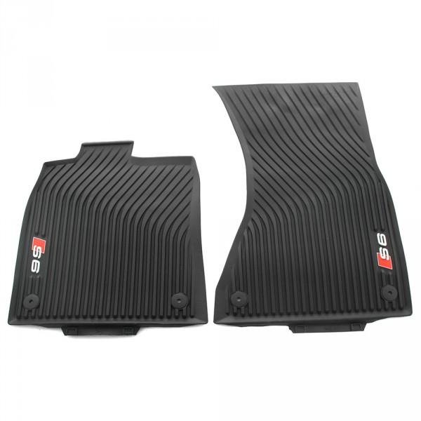 Gummi Fußmatten Original Audi S6 schwarz Allwettermatten 2x vorn Gummimatten