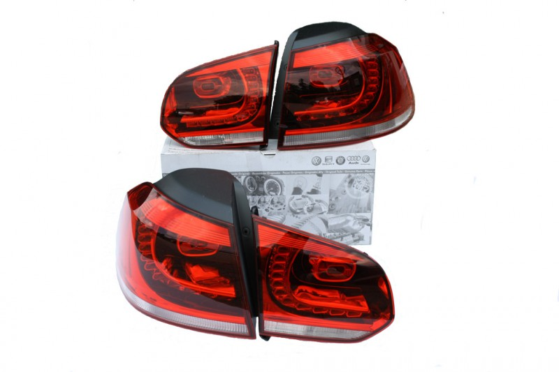 vw golf 6 led r ckleuchten original vw au en tuning. Black Bedroom Furniture Sets. Home Design Ideas