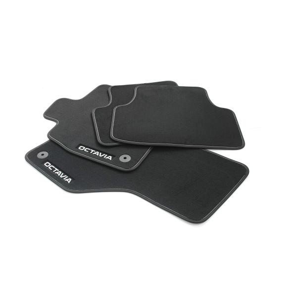 Original Skoda Octavia IV (NX) Prestige Textil Fußmatten schwarz/grau Velours 5E4061270A