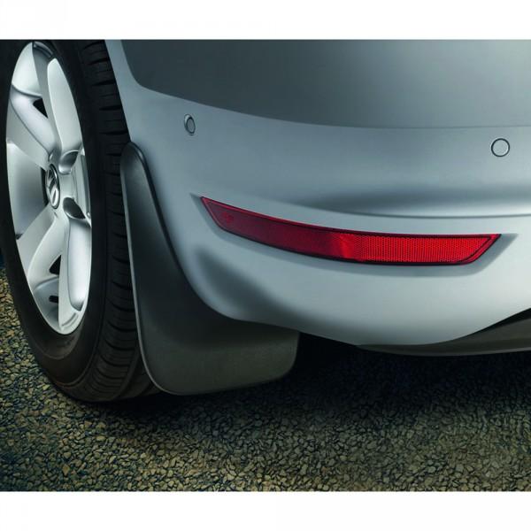 Original VW Sharan (7N) Schmutzfänger hinten schwarz genarbt