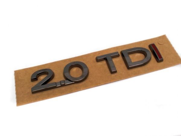 2.0 TDI Schriftzug Aufkleber chrom dunkel Passat Touran Golf