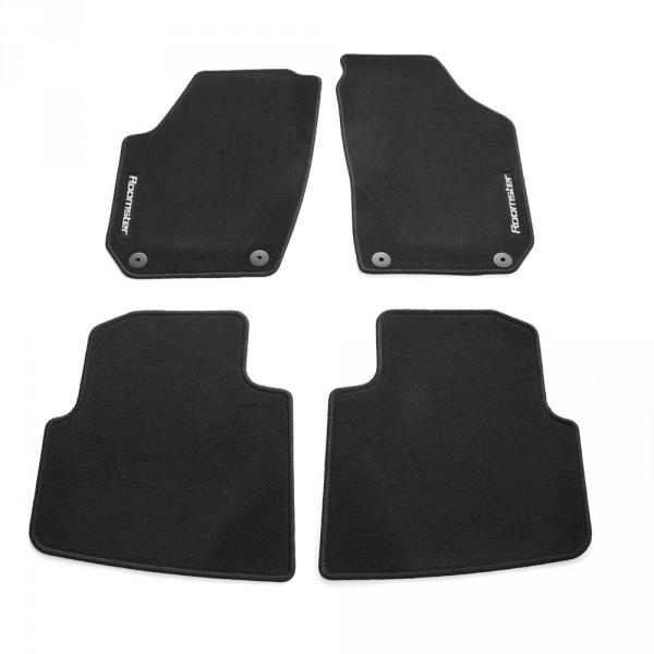 Original Skoda Roomster Standard Textil Fußmatten 4-teilig Stoffmatten Velours