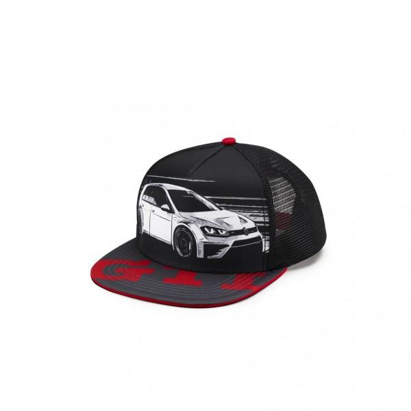 Original VW GTI Basecap Trucker Stil schwarz/rot Kappe Cap Baseballcap 5KA084300