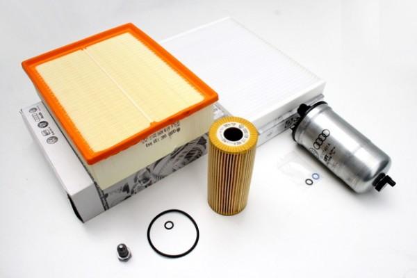 Audi A4 8E Inspektionspaket 2.0 TDI Original Teile Filter Service Filtereinsatz