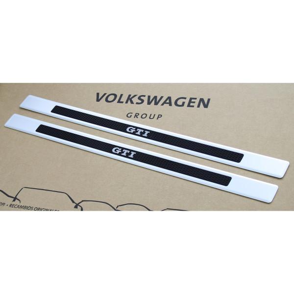 Original VW Up! GTI Einstiegsleisten vorn Design elox Alu Sport Dekor Leisten 2-Türer
