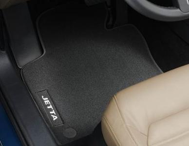 VW Jetta 6 (5C) Original Volkswagen Fußmatten 4-teilig, Velours Premium Stoffmatten