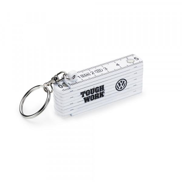 Original VW Schlüsselanhänger Zollstock Tough Work Anhänger Schlüsselring 2K0087013B