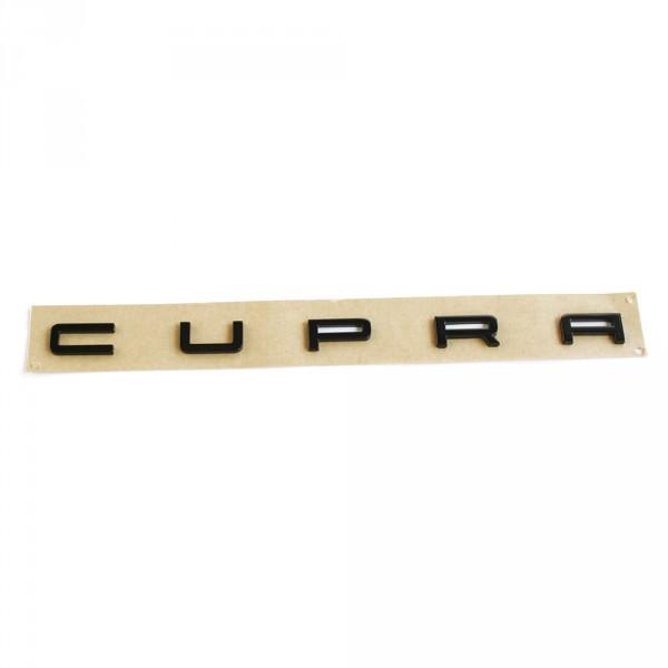 Original Seat Leon (5F) Cupra Schriftzug hinten Heckklappe Tuning Emblem schwarz glänzend