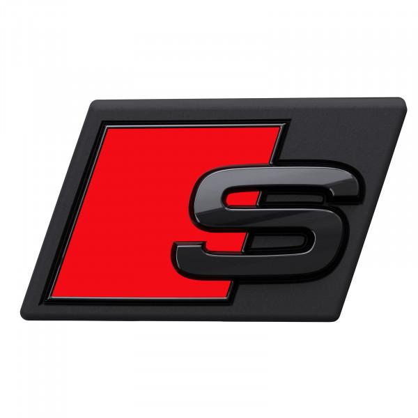 Original Audi e-tron S Schriftzug vorn schwarz Tuning Exclusive Black Edition Emblem 4KE071805