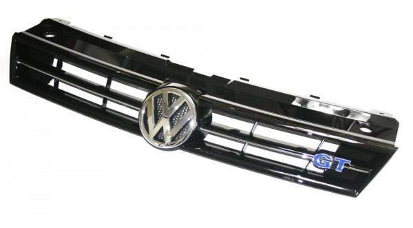 Kühlergrill GT Original VW Polo 6R / 6C Tuning Grill Schwarz hochglänzend/chromglanz
