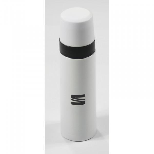 Original Seat Thermosflasche Becher Thermoskanne weiß 6H1069604KBB