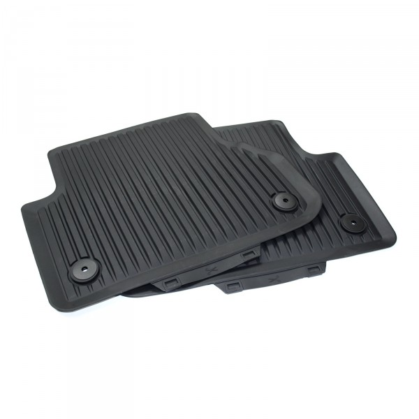Allwettermatten Premium Fußmatten Original Audi A4 A5 (B9) Gummi Gummimatten hinten