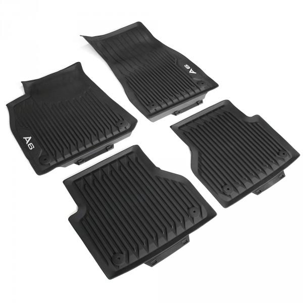 Original Audi A6 (C8 4A) Gummi Fußmatten v+h Gummimatten Allwettermatten schwarz