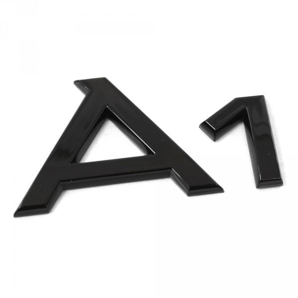 Original Audi A1 Schriftzug schwarz Tuning Exclusive Black Edition Emblem