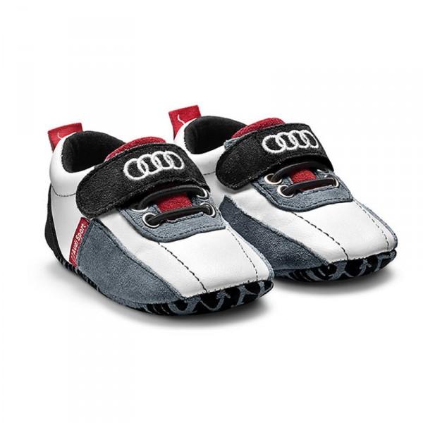 Audi Baby Schühchen Original Audi Sport Rennfahrschuh schwarz weiß rot