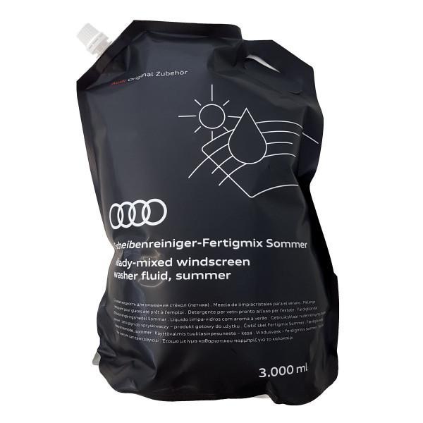 Original Audi Scheibenreiniger Sommer Fertigmix Wischwasser 3L Standbodenbeutel