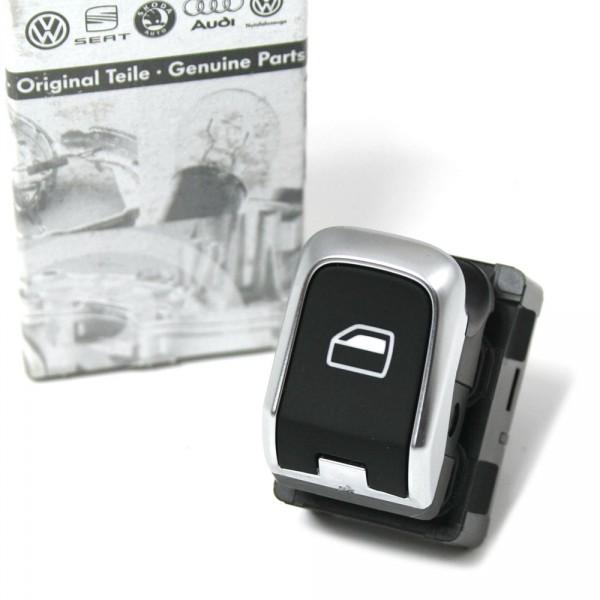 Audi Schalter Fensterheber Original Fensterheberschalter 1-fach chrom Alu schwarz