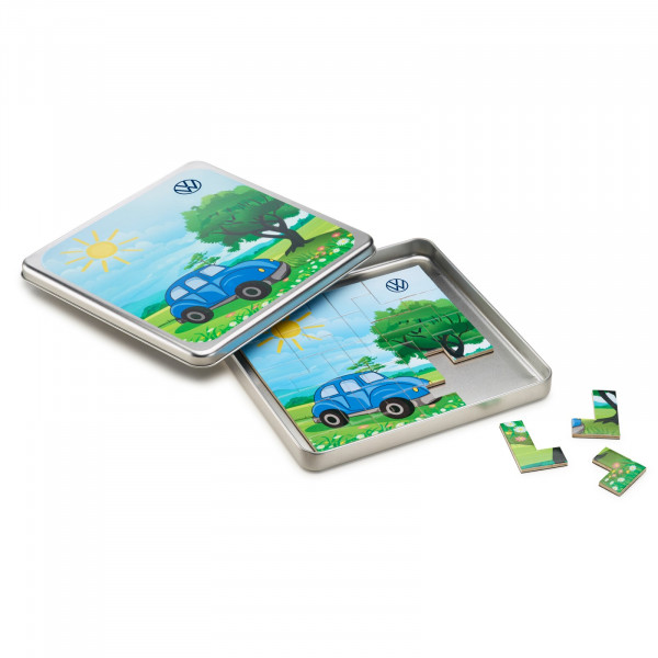 Original VW Magnetspiel Kinder Puzzle Spielzeug Metallbox 000087703MR