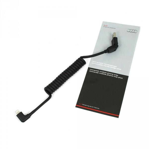 Original Audi USB Adapterleitung iPhone Apple Lightning abgewinkelt 8S0051435D