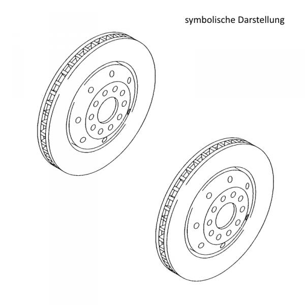 Original Audi Bremsscheiben RS6 Bremsen Vorderachse belüftet 1LJ