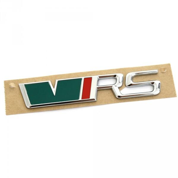 Original Skoda RS Schriftzug hinten Heckklappe Emblem Zeichen Logo schwarz rot grün