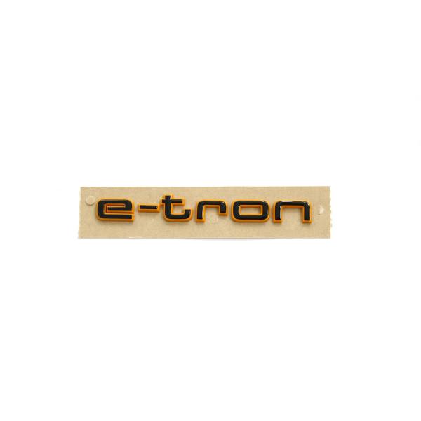 Original Audi e-tron Schriftzug schwarz orange Tuning Exclusive Black Edition Emblem 4KE071807
