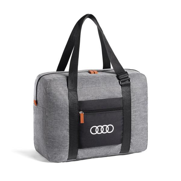 Original Audi Sport Tasche faltbar Tragetasche Ringe Logo Handtasche hellgrau 3152000100