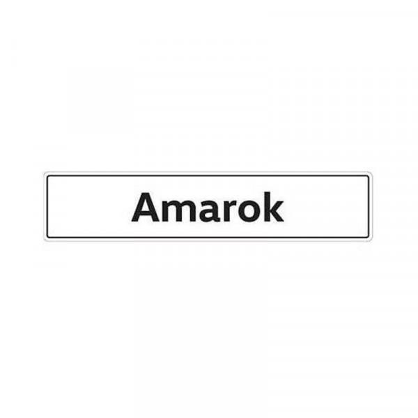 Original VW Kennzeichenschild Amarok Nummernschild Kennzeichen Typenschild 2H0071801A