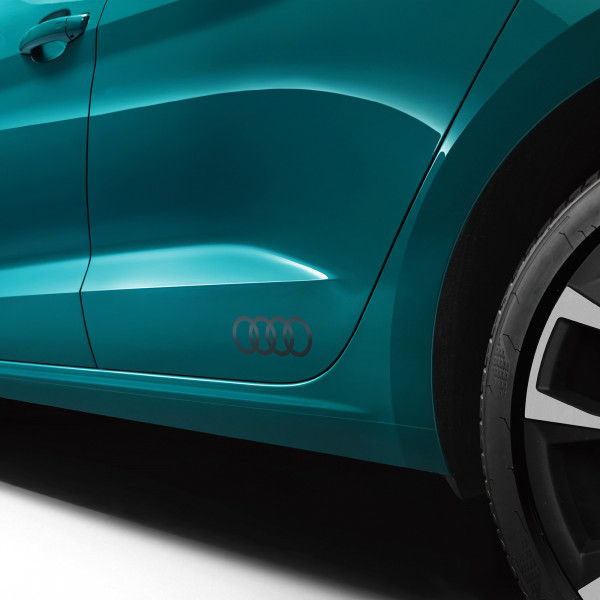 Original Audi Dekorfolie Audi Ringe platinumgrau matt Exterieur Schriftzug Logo 83F0643171RR