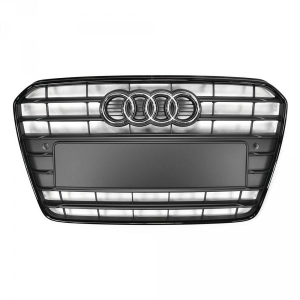 Original Audi A5 (B8 8T) Facelift S-Line Grill, schwarz-matt