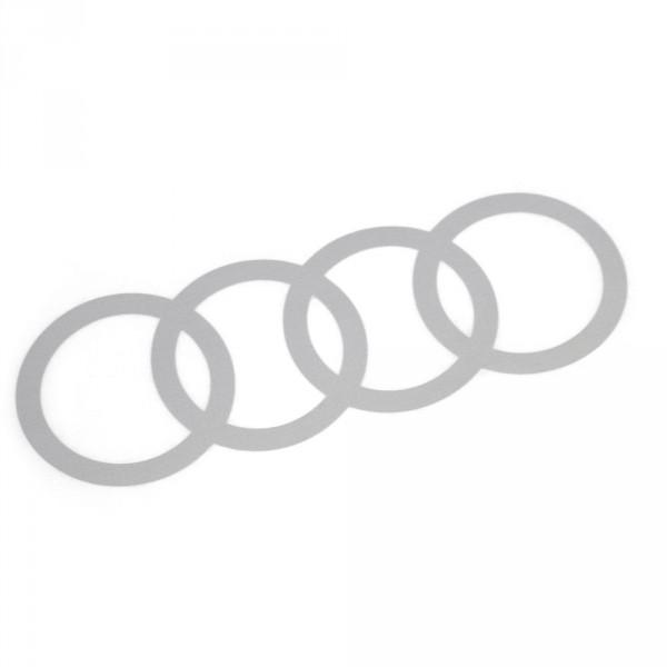 Original Audi Q2 C-Blade Dekorfolie Set Audi Ringe Exterieur Ringe Florettsilber