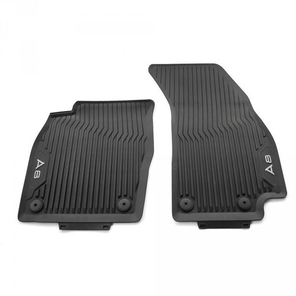 Original Audi A8 (D5 4N) Gummi Fußmatten vorn Gummimatten Allwettermatten schwarz