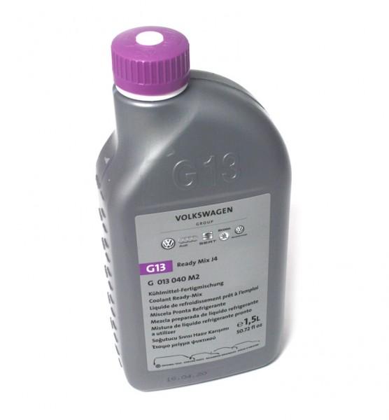 Original G13 Kühlflüssigkeit Kühlmittel VW Audi Ready Mix J4 1,5l Flasche