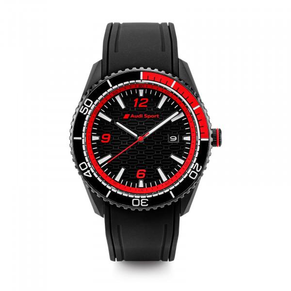 Original Audi Sport Armbanduhr Herren Uhr schwarz/rot 3102000200